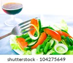 fresh salad with tomatoes ... | Shutterstock . vector #104275649