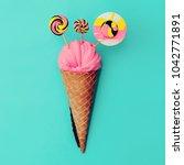candy lolipop ice cream. sweet... | Shutterstock . vector #1042771891