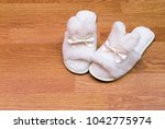 top view of a pair of new soft... | Shutterstock . vector #1042775974