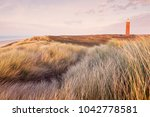 westhoofd lighthouse in... | Shutterstock . vector #1042778581