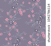 small flowers. seamless pattern ... | Shutterstock .eps vector #1042786114
