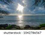 nice atmosphere at the sai keaw ... | Shutterstock . vector #1042786567