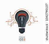 creative idea  invention ... | Shutterstock .eps vector #1042790137