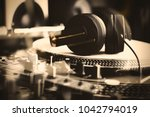 music background.concert dj... | Shutterstock . vector #1042794019