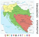 map of the western balkans and... | Shutterstock .eps vector #1042809481