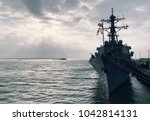 a us navy frigate based at the... | Shutterstock . vector #1042814131