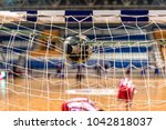 the ball in the gates for... | Shutterstock . vector #1042818037