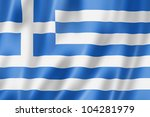 greece flag  three dimensional... | Shutterstock . vector #104281979