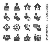 ceo manager icon set | Shutterstock .eps vector #1042823581