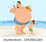 vector illustration of a funny...   Shutterstock .eps vector #1042831264