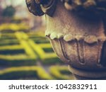 detail of a garden ornament and ...