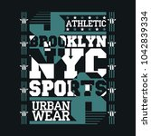 new york typography  design... | Shutterstock .eps vector #1042839334