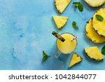 homemade refreshing fruit... | Shutterstock . vector #1042844077