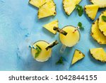 homemade refreshing fruit... | Shutterstock . vector #1042844155