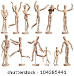 Collection Of Wooden Mannequin...