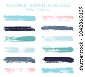 watercolor  ink or paint brush... | Shutterstock .eps vector #1042860139
