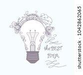 the best idea. hand drawn...   Shutterstock .eps vector #1042862065