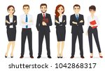 business team set | Shutterstock .eps vector #1042868317