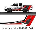 truck graphic background kit... | Shutterstock .eps vector #1042871344