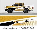 truck graphic background kit...   Shutterstock .eps vector #1042871365