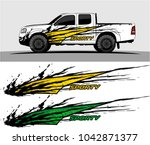 Stock vector truck graphic background kit vector 1042871377