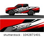 truck graphic background kit... | Shutterstock .eps vector #1042871401