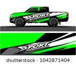 truck graphic background kit...   Shutterstock .eps vector #1042871404