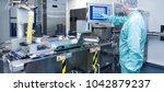 pharmacy industry factory man... | Shutterstock . vector #1042879237