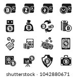 cryptocurrency and mining icon... | Shutterstock .eps vector #1042880671