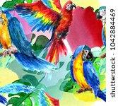 tropics  seamless pattern.... | Shutterstock . vector #1042884469