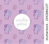 repeating seamless pattern of... | Shutterstock .eps vector #1042886137