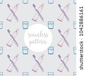 repeating seamless pattern of... | Shutterstock .eps vector #1042886161