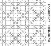 seamless geometric ornamental...   Shutterstock .eps vector #1042889005
