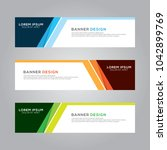 abstract modern banner... | Shutterstock .eps vector #1042899769
