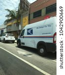 Small photo of LOS ANGELES - JULY 2017: United States Postal Service mail truck in Los Angeles. USPS is the operator of the largest civilian vehicle fleet in the world.