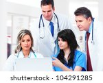 medical doctors group at the... | Shutterstock . vector #104291285