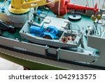 rc scale model ship at... | Shutterstock . vector #1042913575