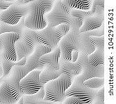 3d abstract seamless pattern ... | Shutterstock . vector #1042917631