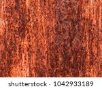 old grungy and dirty red rusty... | Shutterstock . vector #1042933189