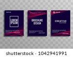 abstract business brochure wave ... | Shutterstock .eps vector #1042941991