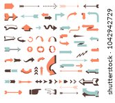 huge vector arrow set   70... | Shutterstock .eps vector #1042942729