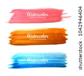 abstract colorful hand drawn... | Shutterstock .eps vector #1042946404