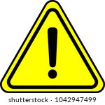 simple yellow warning mark 2 | Shutterstock .eps vector #1042947499