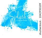blue watercolor splash... | Shutterstock .eps vector #1042950109