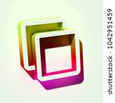 white clone icon. 3d... | Shutterstock . vector #1042951459