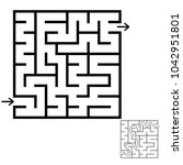 abstract square maze. an... | Shutterstock .eps vector #1042951801