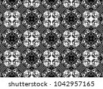 ornament with elements of black ...   Shutterstock . vector #1042957165
