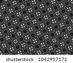 ornament with elements of black ...   Shutterstock . vector #1042957171
