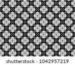 ornament with elements of black ...   Shutterstock . vector #1042957219