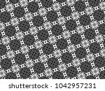 ornament with elements of black ...   Shutterstock . vector #1042957231